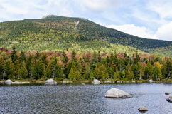 Sandy Stream Pond. With Mt. Katahdin in the distance Stock Photos