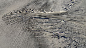 Sandy structure at low tide the sea Royalty Free Stock Images