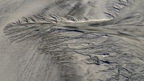 Sandy-Struktur bei Ebbe das Meer Lizenzfreie Stockbilder
