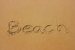 Sandy summer beach Royalty Free Stock Image