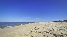 Sandy summer beach in Hel, Baltic sea, Poland stock video footage