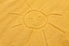 Sandy sun Stock Photo