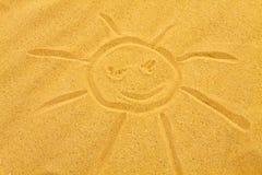 Sandy sun Stock Photo