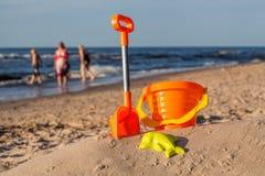 Sandy sunny beach Stock Images