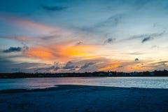 Sandy Sunsets en la isla del ` s de Pawley Fotos de archivo