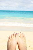 Sandy toes Stock Photos