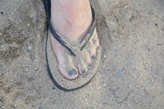 Sandy toes Royalty Free Stock Photos
