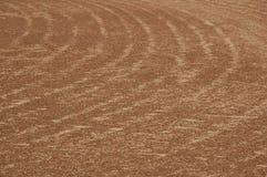 Sandy Track. A sandy baseball track with curvy textures stock photos