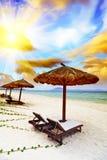 Sandy Tropical Beach Stock Image