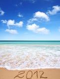 Sandy tropical beach Bavaro, Punta Cana, Dominican Republic Royalty Free Stock Images