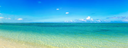 Sandy tropical beach. Panorama. Stock Images