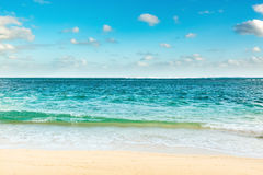 Sandy tropical beach. Royalty Free Stock Photos