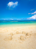 Sandy tropical beach. Royalty Free Stock Photography