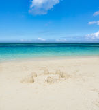 Sandy tropical beach. Stock Image