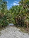 Sandy tropical trail Royalty Free Stock Photo