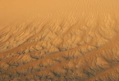 Sandy waves. Royalty Free Stock Photo