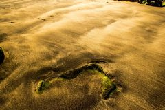 Sandy waves. Beach below our golf course Hafnarfjordur Iceland Stock Photography