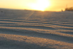 Sandy waves. Close up of small windswept waves on the beach at Biloxi Mississippi. Sand on the Beach Stock Photo