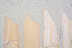 Sandy wood planks Royalty Free Stock Image