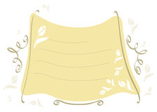Sandy-yellow-frame-with-tulips royalty free illustration