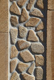 Sandy Yellow  stone wall with side frame stones Stock Image