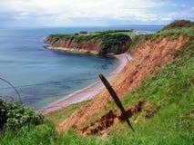 Sandy zatoka - Devon Fotografia Royalty Free