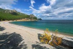 Sandy zatoka w jesieni Fotografia Stock