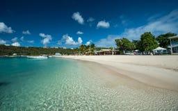 Sandy ziemi zatoka, Anguilla, Angielscy Zachodni Indies Obraz Stock