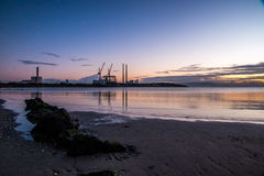 Sandymount pasemka wschód słońca Obrazy Royalty Free