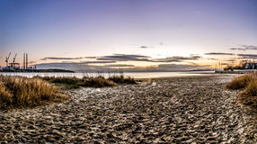 Sandymount Strand Sunrise Royalty Free Stock Photography