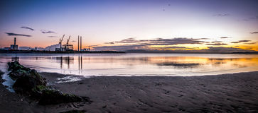 Sandymount Strand Sunrise Stock Photos