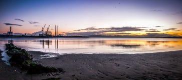Sandymount Strand Sunrise. Sunrise on Sandymount Strand, Dublin, Ireland Stock Photos
