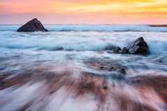 Sandymouth Cornualha Inglaterra Imagens de Stock