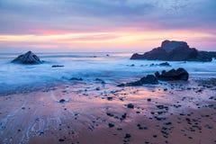 Sandymouth les Cornouailles Angleterre Photographie stock libre de droits