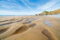 Sandymouth les Cornouailles Angleterre R-U photos stock