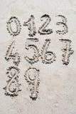 Sandzahlen Stockbilder