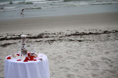 Sandzeremonie auf dem Strand Stockfoto
