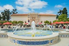Sanen Diego Museum av konst i den härliga och historiska Balben arkivbilder