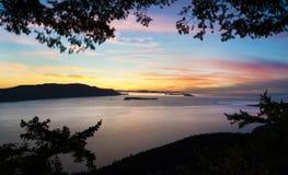 Sanen Juan Islands Arkivfoto