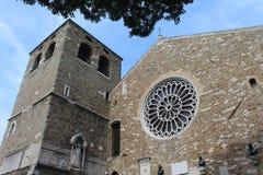 Sanen Justo Cathedral arkivbild