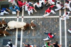 Sanfermines de visibilité directe, Pamplona Photo libre de droits