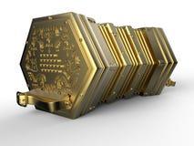 Sanfona dourada ilustração stock