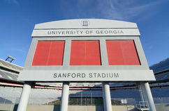Sanford Stadium. Home of the Georgia Bulldogs, a South Eastern Conference football team in Athens, Georgia Royalty Free Stock Photos