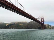 Sanfransisco Golden Gate Bridge. Foggy fog cool Bay Area great day Stock Photography