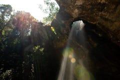 Sang Chan Waterfall Moonlight Waterfall no parque nacional de Pha Taem, província de Ubon Ratchathani, Tailândia imagem de stock royalty free