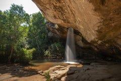 Sang Chan Waterfall Moonlight Waterfall no parque nacional de Pha Taem, província de Ubon Ratchathani, Tailândia foto de stock royalty free