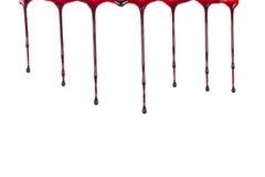 Sang d'égoutture d'isolement sur le blanc Photos libres de droits