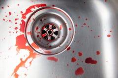 Sang dans l'évier Images libres de droits