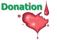 Sang de rouge de donation illustration libre de droits