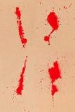Sang et carton Image libre de droits